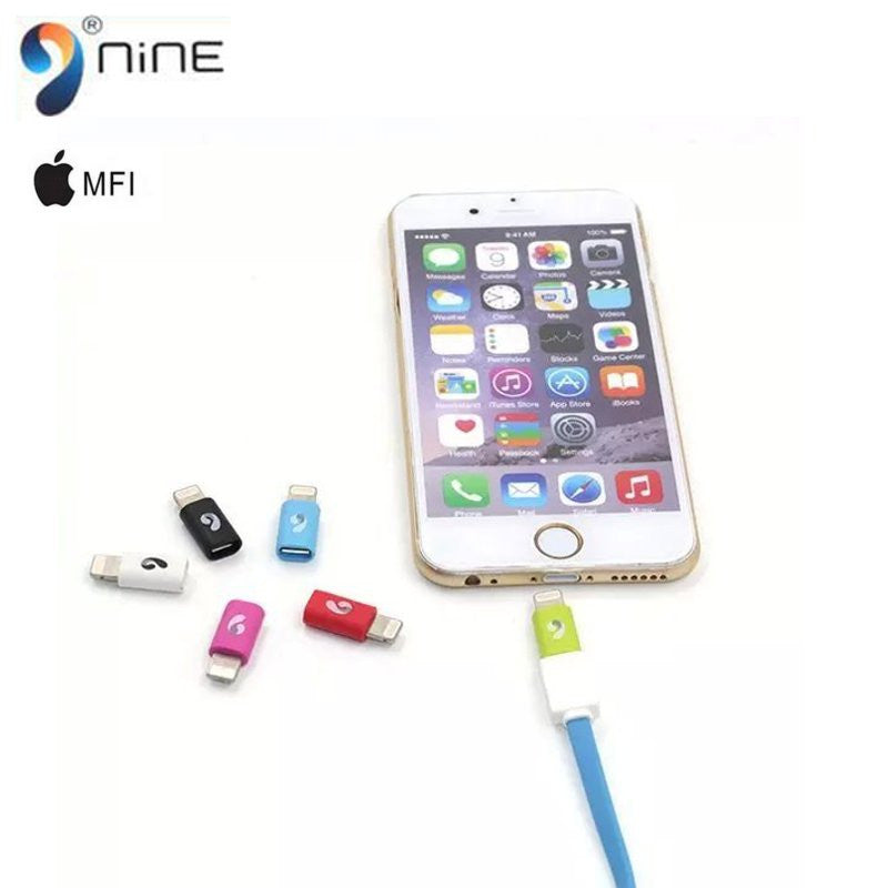 NINE Switch Port Lightning Micro USB 8 PIN Charge Data Converter Transfer Adapter For iPhone 5-6