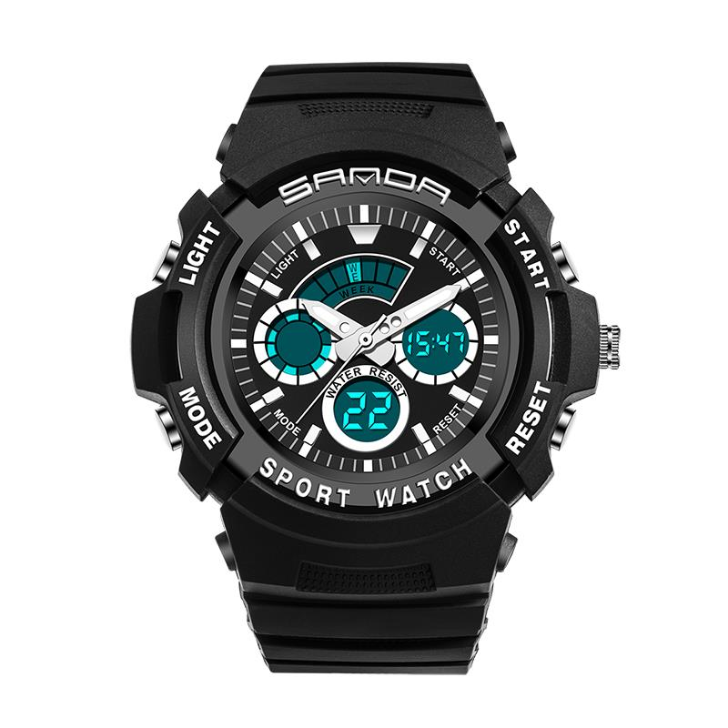 Wil je alles weten over SANDA 138 Fashion Children Digital Watch Swimming Dual Display Kids Sport Watch? Hier lees je alles over Dual Display Watches Men Watches