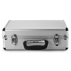 Silver Aluminum Transmitter Box Carrying Case 35cmx23cmx12cm