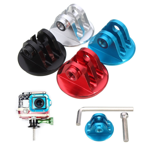Aluminum Alloy Mount Adapter With Screw and Hex Wrench For GoPro 2 3 4 3 Plus