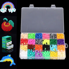 2400pcs Hama Perler Beads 5mm 24 Colors Kids Children DIY Craft Educational