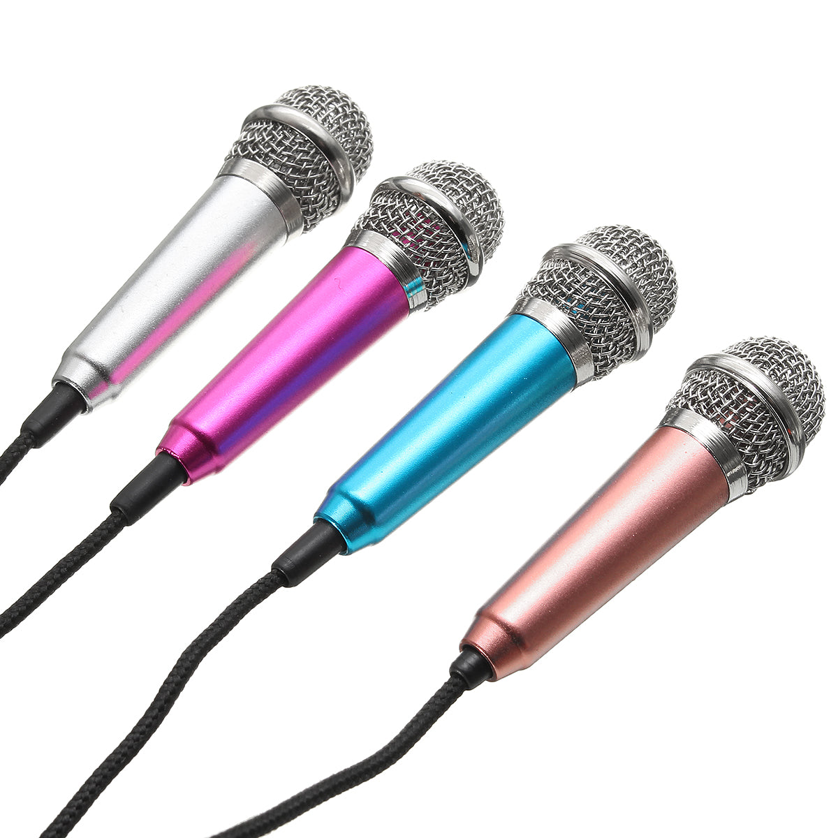 3.5mm Mini Stereo Studio Speech Microphone Mic For MSN iPhone Laptop PC Skype