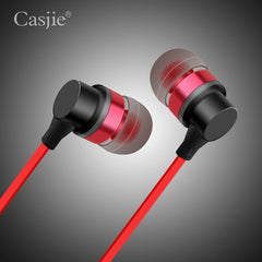 Casjie CA-201 Wired Control Mega Bass Metalic In-ear Earphone For Xiaomi Iphone Samsung LG