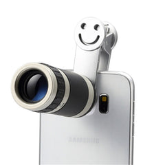 Universal 8X Zoom Telescope Telephoto Camera Lens with Smile Clip For iPhone Samsung HTC