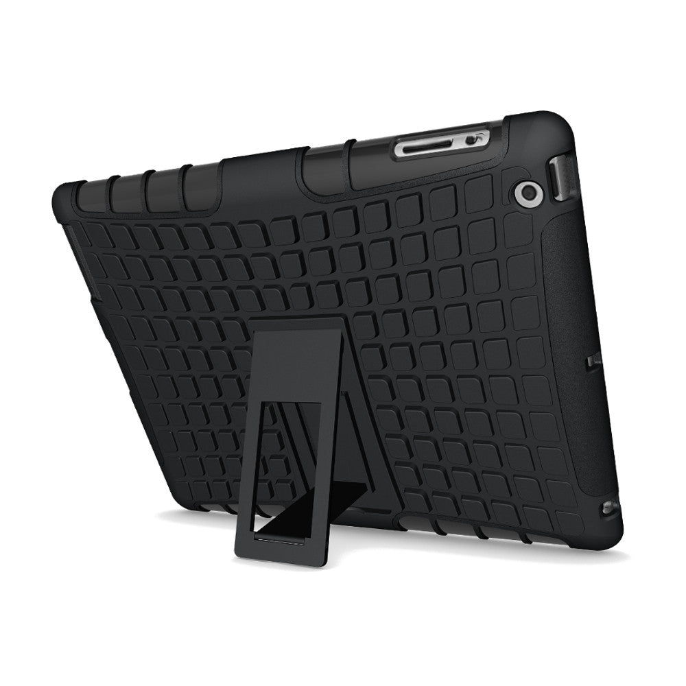 Shockproof Anti-skid Kickstand Case Hybrid Soft Hard Rugged Case Cover For iPad 2-3-4