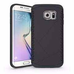 Armor Shockproof Alloy Hard Back Case TPU Soft Frame Cover Shell for Samsung Galaxy S6 Edge