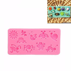 3D Silicone Fondant Mould Animal Insect Cake Decorating Mold