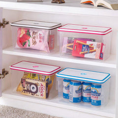 Kitchen Fridge Food Container Box Food Crisper Refrigerator Storage Box with Handle and Date Table