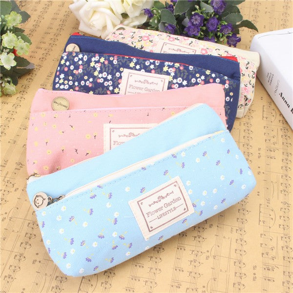 Wil je alles weten over Mori Girl Style School Pencil Case Fresh Floral Printed School Supplies Simple Canvas Stationery? Hier lees je alles over Office & School Supplies Stationery Supplies
