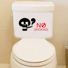 Honana BC-594 No Smoking Reminder Sign Removable PVC Toilet Seat Sticker Bathroom Wall Decoration