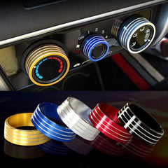 3pcs/Set Cars Aluminum Decoration Stereo Knob Ring Air Conditioning Knob Ring for Honda New Fit