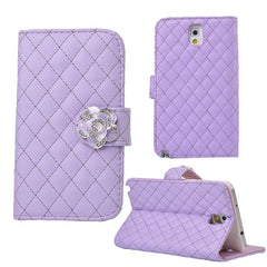 Camellia PU Leather Wallet Case for Samsung Galaxy Note 3 N9000