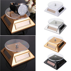 Solar Showcase 360 Turntable Rotating Jewelry Phone Ring Display Stand For Apple Watch Mobile Phone