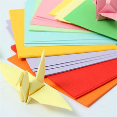 100pcs 10x10cm Origami Square Paper Double Sided Coloured Sheets Paper Craft DIY