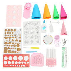 Quilling DIY Craft Tool Full Kit Quilling Work Board Mould Grid Guide Tool