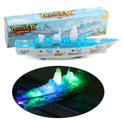 Ocean Liner Ship Boat Electric Toy With Flashing LED Lights Sounds Kids Gift