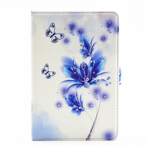 Folding PU Leather Luxury Bling Diamond Magnetic Case Stand Cover For iPad mini 4