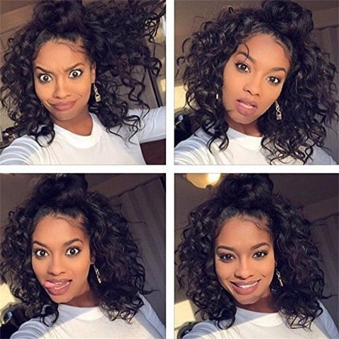 Natural Black Roll Ladies Front Lace Wig