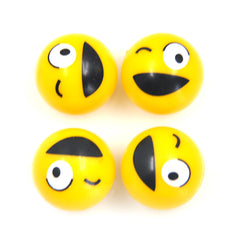 Universal Automobile and Motorcycle Gas Nozzle Cover with Nifty Smiling Face Four Pack