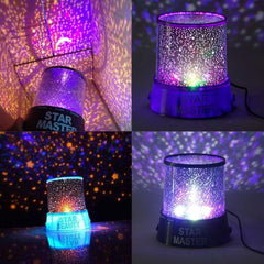 Romantic LED Starry Night Sky Projector Lamp Kids Gift Star Light Cosmos Master Romantic LED Starry