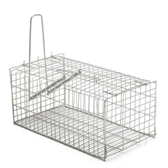 Rat Trap Cage Animal Pest Rodent Mice Mouse Control Live Bait Catch Silver