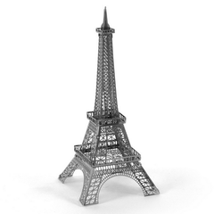 Aipin DIY 3D Puzzle Stainless Steel Model Kit Eiffel Tower Silver Color