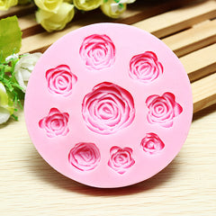 3D Silicone Rose Shape Cake Mold Chocolate Jelly Mold Creative Baking Accessories