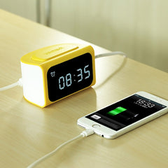 REMAX LED Alarm Clock Creative Power Bank USB Charger Electronic Bedside Alarm Clock