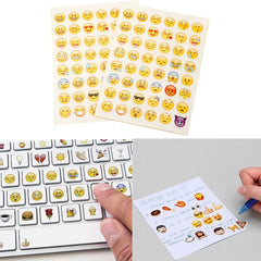 2 Sheets Cut Emoji Smile Expression Face Sticker Pack Decoration Stickers