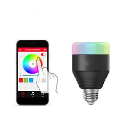 Wireless Bluetooth Smart RGB LED Light Lamp For Android App IOS Phone