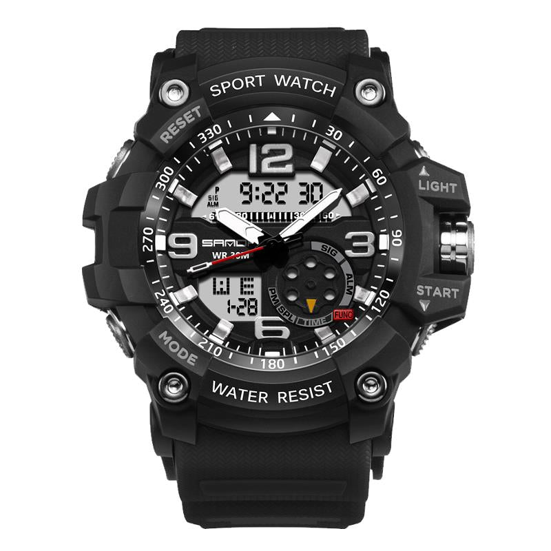 Wil je alles weten over SANDA 759 Fashion Men Dual Display Watch Multifunction Swimming Diving Sport Watch? Hier lees je alles over Jewelry and Watch Quartz Watches