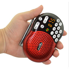 Amoi X400 Mini Portable LED Screen Speaker FM Radio Support Card Play