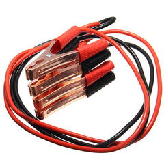 Black & Red 2M 500A Copper Wire Auto Battery Line Emergency Cable Line Cable Clip