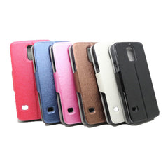 Flip-open PU Leather Protective Case For Samsung Galaxy S5