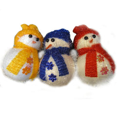 12 x Snowman With Snowflakes Christmas Xmas Gift Decoration