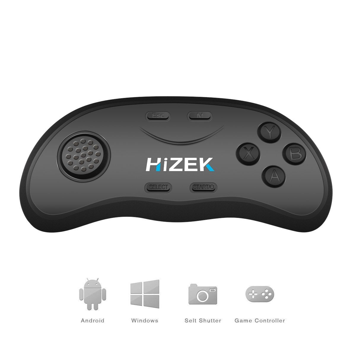 Hizek HZ-RC2 Bluetooth Remote Controller Wireless Gamepads Mouse Music Player For iOS Android PC
