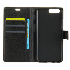 Flip Litchi Pattern Wallet Card Slot Stand PU Leather Full Body Case For DOOGEE MIX