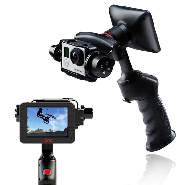 GP1+ Handheld Gimbal Adventure Stabilizer with 3.5inch LCD Built-in Monitor for Go pro Hero 3 3 Plus