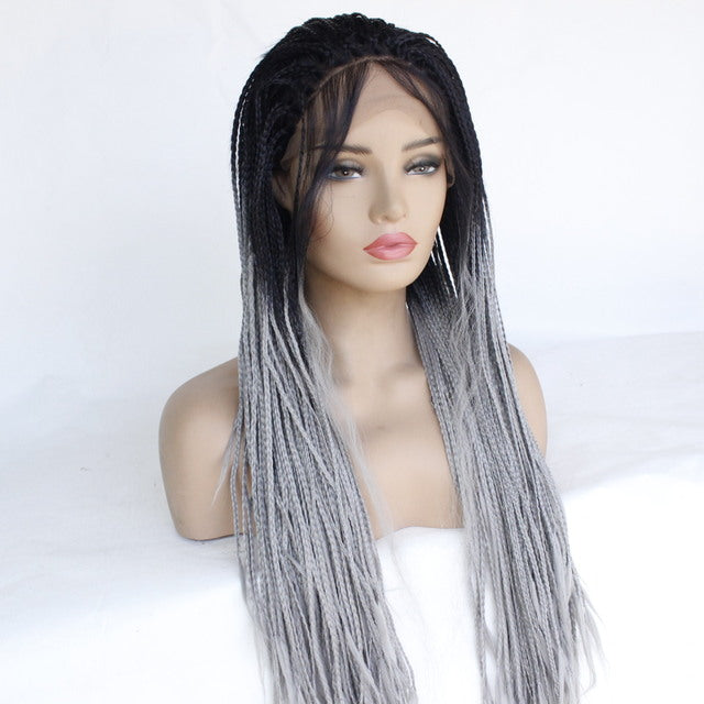 Gradient Dyed Three Strands Of Scorpion Lace Wig