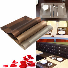Dining Table Mat Bowl Pad Coaster Slip Resistant Pad PVC Waterproof Tablecloth