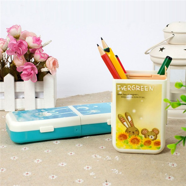 Wil je alles weten over Multifunctional Folding Stationery Box Pencil Case Pen Holder Plastic? Hier lees je alles over Office & School Supplies Stationery Supplies