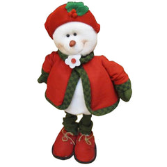 Cute Snowman In Red Dress Christmas Xmas For Gift Deccoration