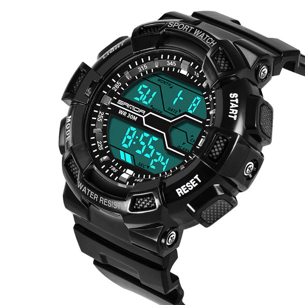 Wil je alles weten over SANDA 378 Digital Watch Military Stopwatch Waterproof Outdoor Sport Men Watch? Hier lees je alles over Jewelry and Watch Quartz Watches