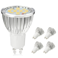 ZX Dimmable GU10 4.5W 15 SMD 5730 LED Pure White Warm White Spot Lighting Bulb AC110V AC220V