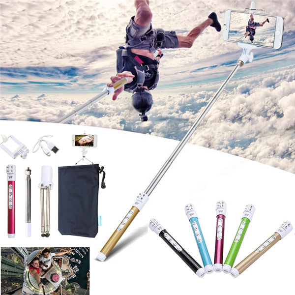 5In1 Bluetooth Wireless Remote Handheld Selfie Stick Monopod Tripod For IOS Android Phone