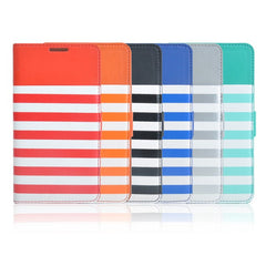 Kajsa Horizontal Stripes Leather Case Cover For Samgsung NOTE3 N9000