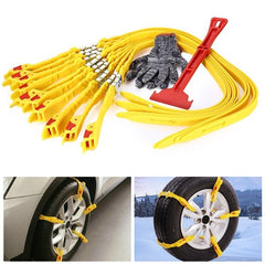 10pcs Tendon Rubber Tire Anti Skid Belt Snow Chain Safety Kit for Car SUV Truck