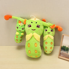 Lovely Stuffed Plush Green Caterpillar Soft Doll Toy