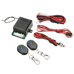 Universal 12V Car Alarm Immobilizer Anti Theft System + 2 Remote Controller