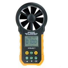 HYELEC PEAKMETER MS6252B Wind Speed Test Meter MULTI Digital Anemometer Tachometer Thermometer